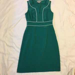 Banana Republic Factory green dress white trim